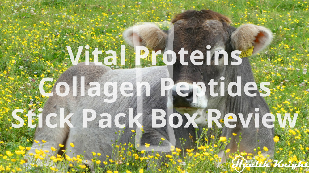 Vital Proteins Collagen Peptides Stick Pack Box Review