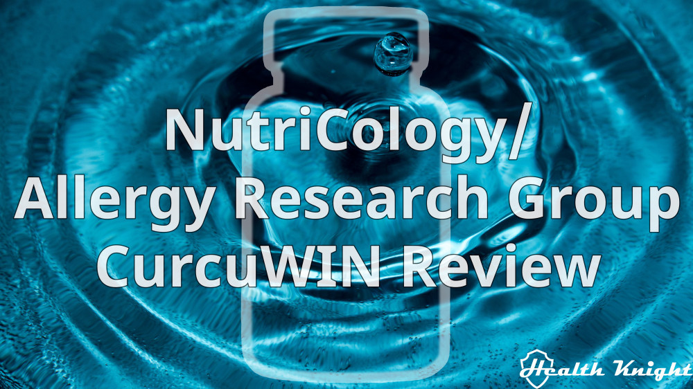 NutriCology Allergy Research Group CurcuWIN Review